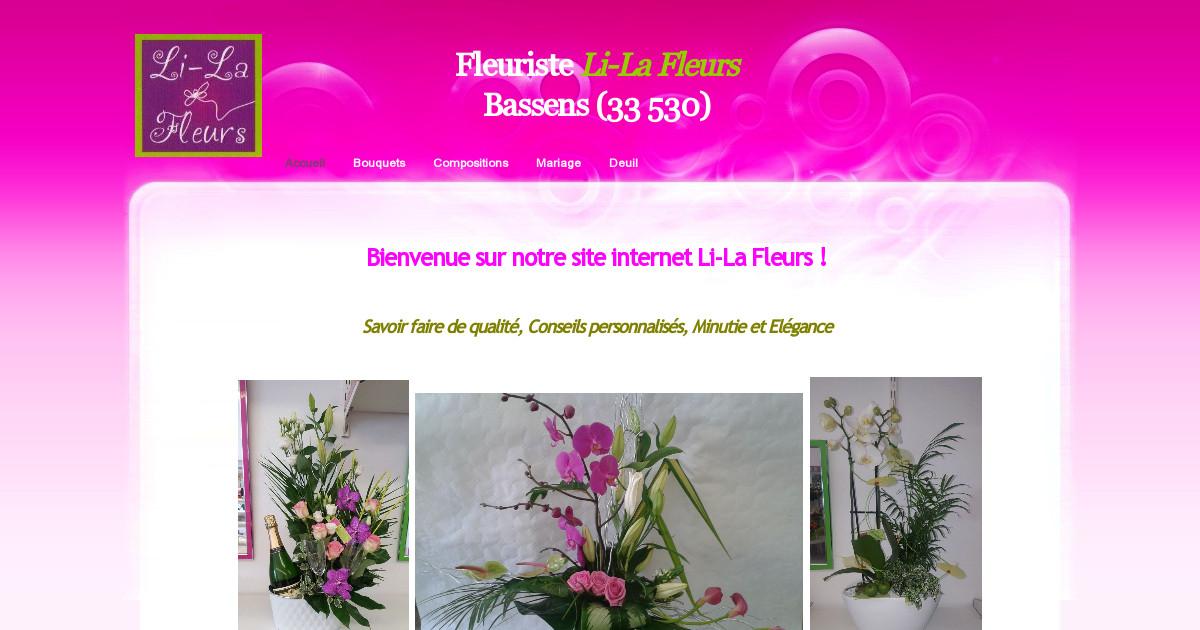 Fleuriste li la fleurs bassens 33 accueil for Fleurs internet